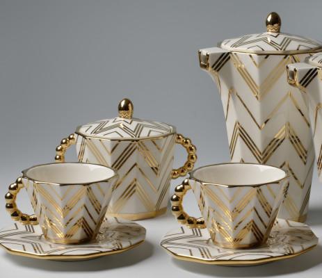 Coffee / Tea set by Pavel Janák 1911.