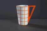 Oranžový kávový a čajový  soubor